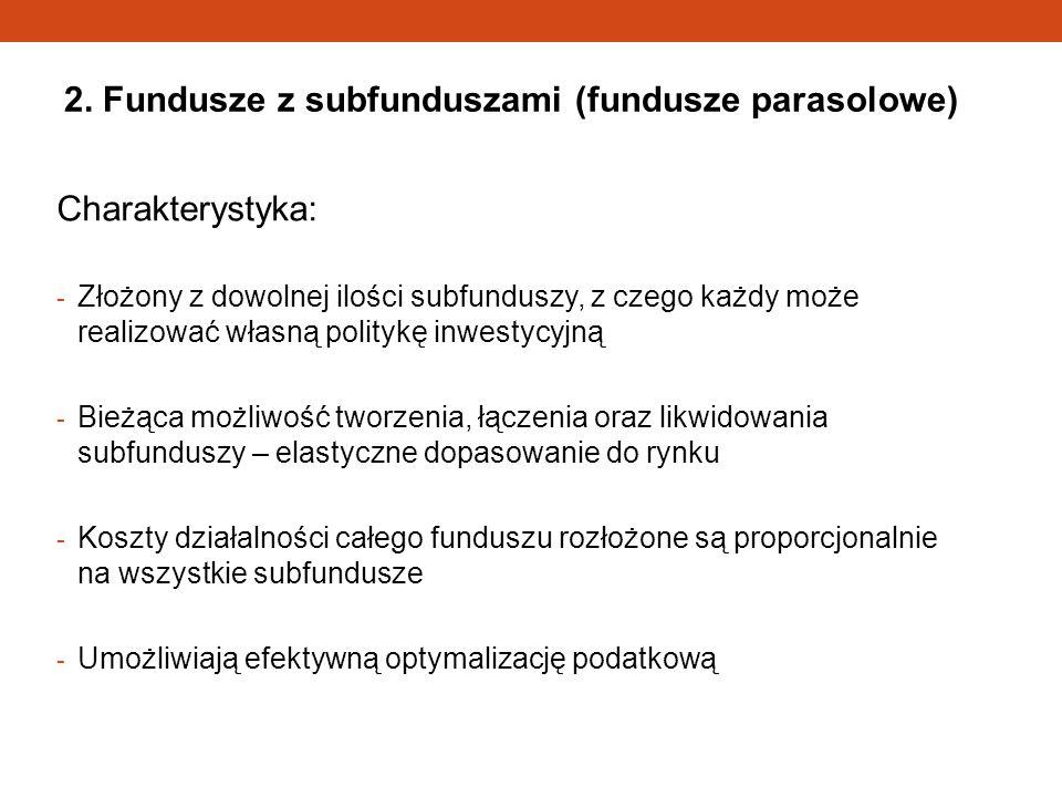 2. Fundusze z subfunduszami (fundusze parasolowe)