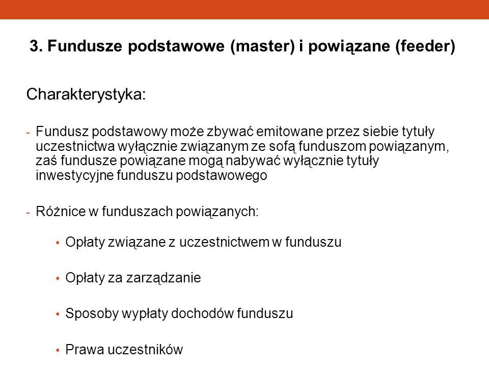 3. Fundusze podstawowe (master) i powiązane (feeder)