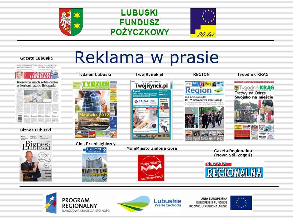 Reklama w prasie Gazeta Lubuska Tydzień Lubuski TwójRynek.pl REGION