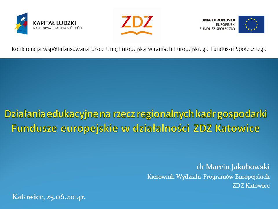 Konferencja współfinansowana przez Unię Europejską w ramach Europejskiego Funduszu Społecznego