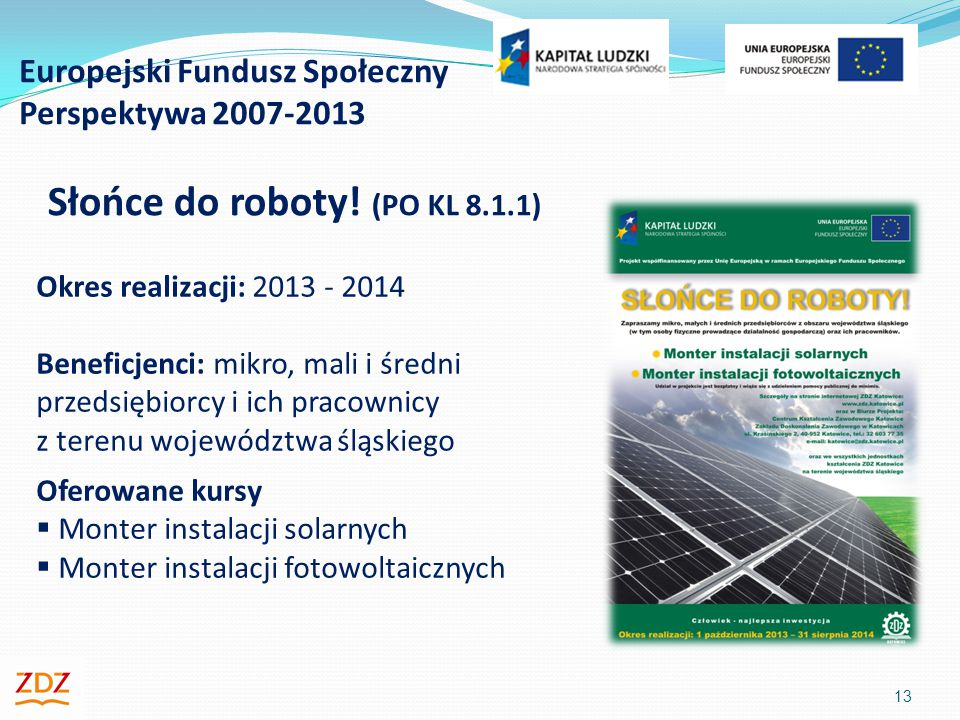 Europejski Fundusz Społeczny Perspektywa 2007-2013