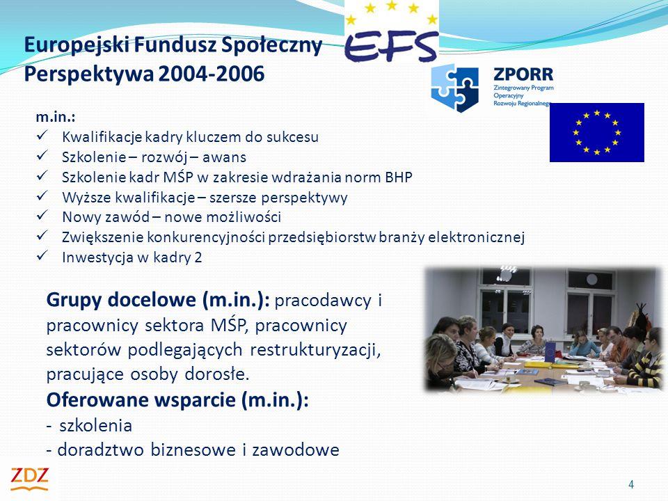 Europejski Fundusz Społeczny Perspektywa 2004-2006