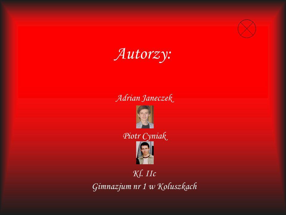Adrian Janeczek Piotr Cyniak Kl. IIc Gimnazjum nr 1 w Koluszkach