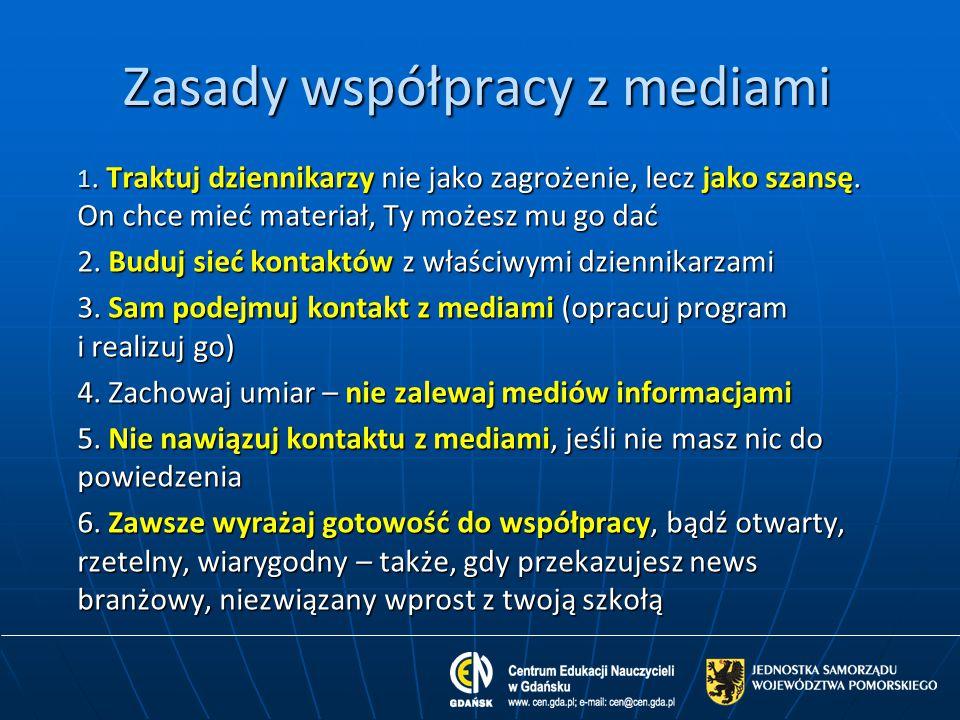 Zasady współpracy z mediami