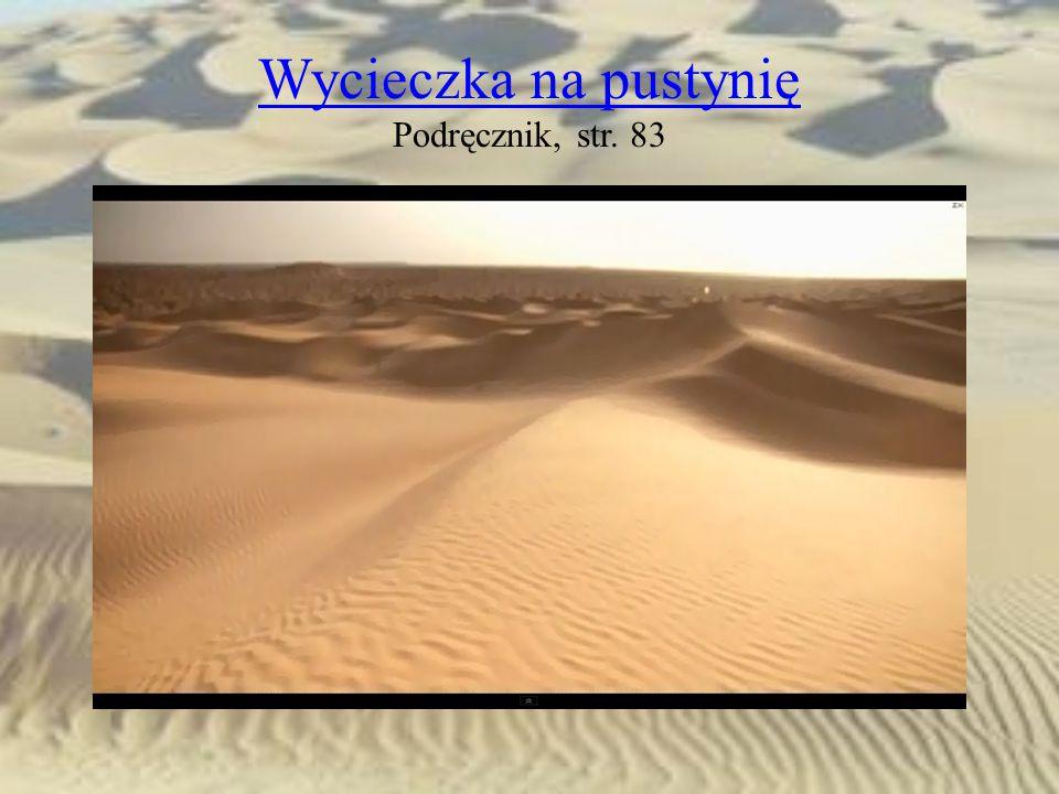 Wycieczka na pustynię Podręcznik, str. 83