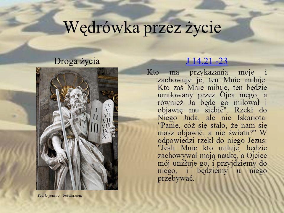Wędrówka przez życie Droga życia J 14,21 -23