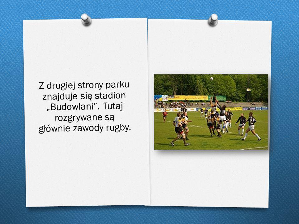 """Z drugiej strony parku znajduje się stadion """"Budowlani"""