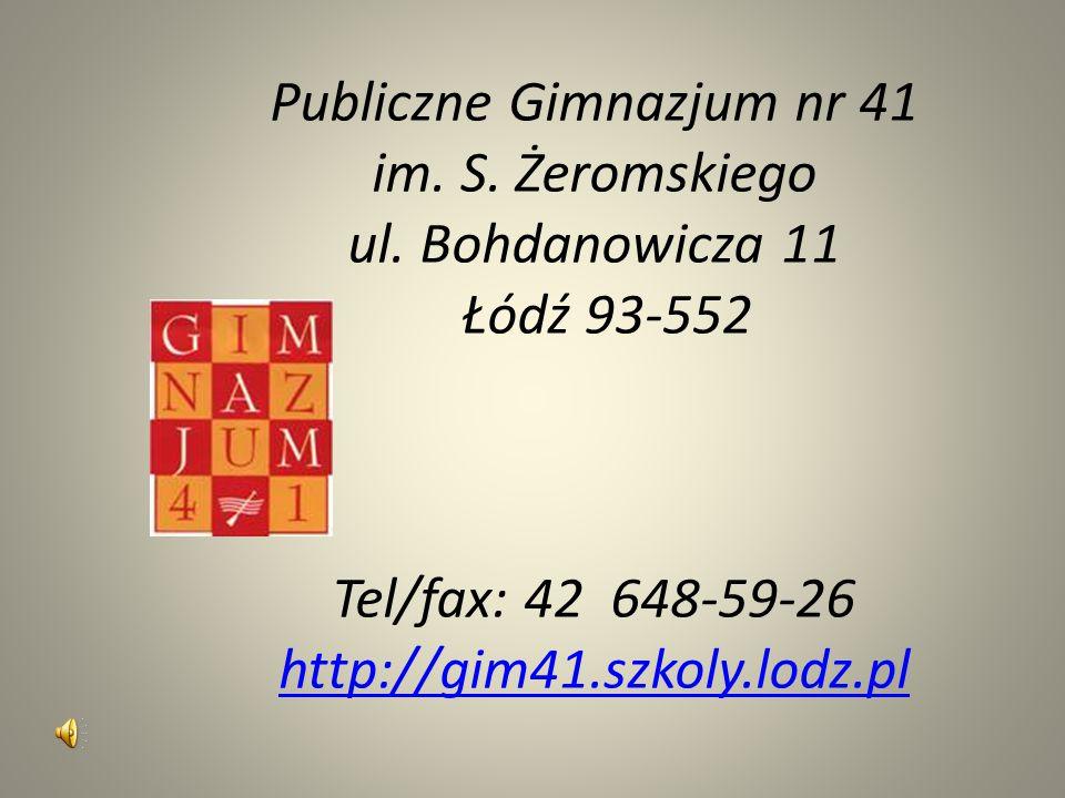 Publiczne Gimnazjum nr 41 im. S. Żeromskiego ul