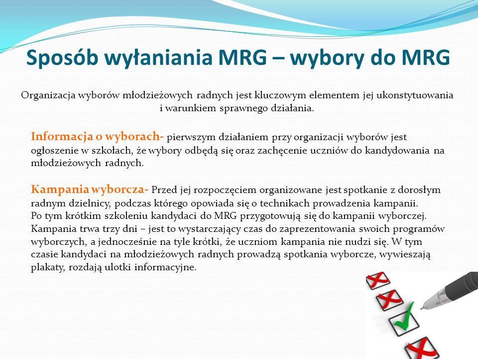 Sposób wyłaniania MRG – wybory do MRG