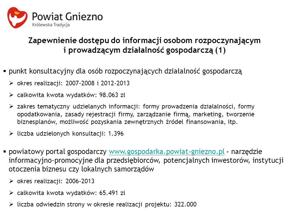 Zapewnienie dostępu do informacji osobom rozpoczynającym i prowadzącym działalność gospodarczą (1)