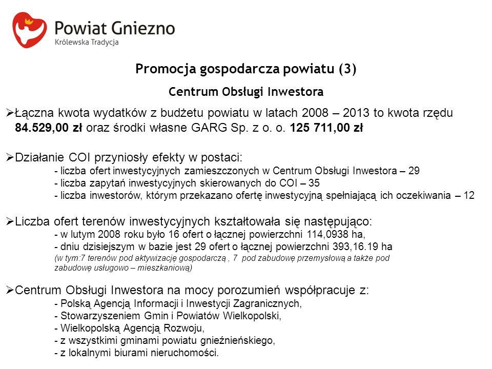 Promocja gospodarcza powiatu (3) Centrum Obsługi Inwestora