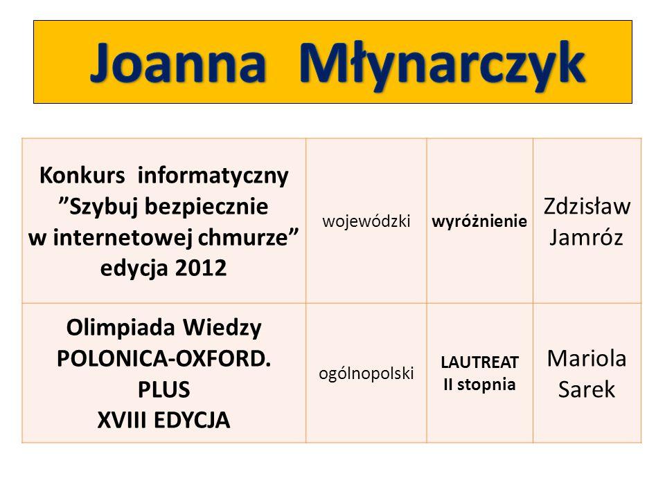 Olimpiada Wiedzy POLONICA-OXFORD. PLUS