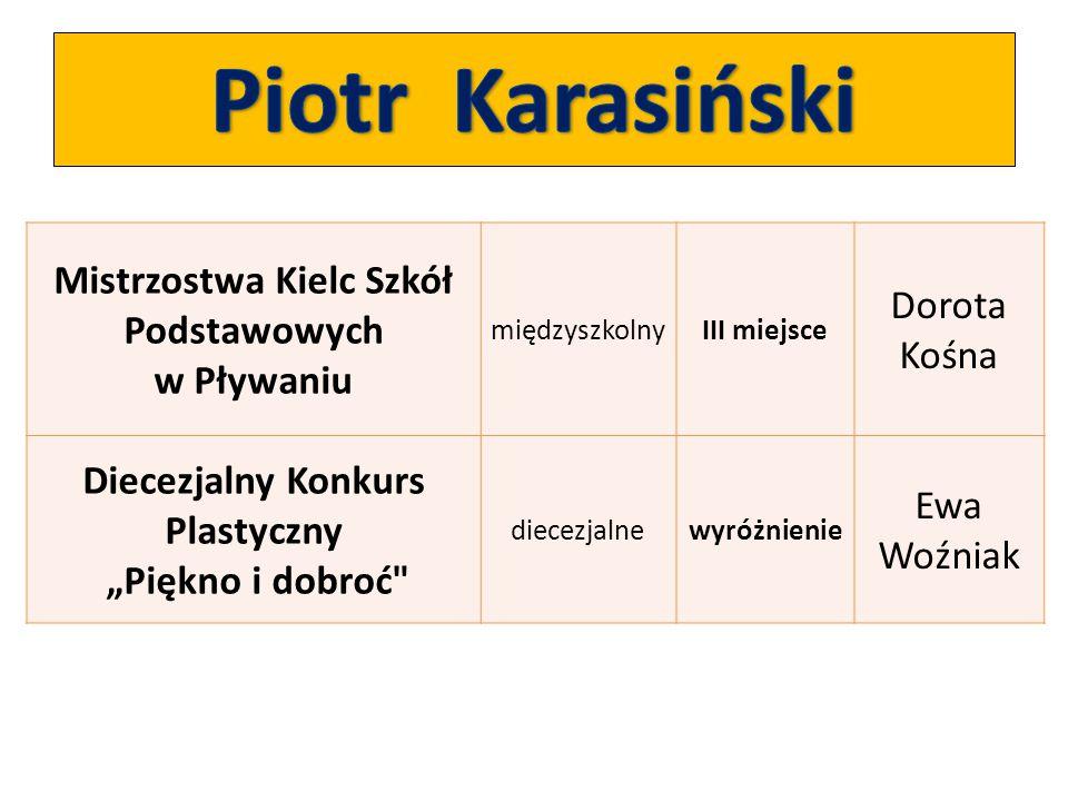 Piotr Karasiński Mistrzostwa Kielc Szkół Podstawowych w Pływaniu
