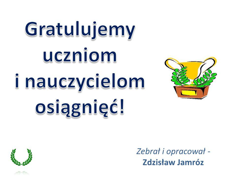 Gratulujemy uczniom i nauczycielom osiągnięć!