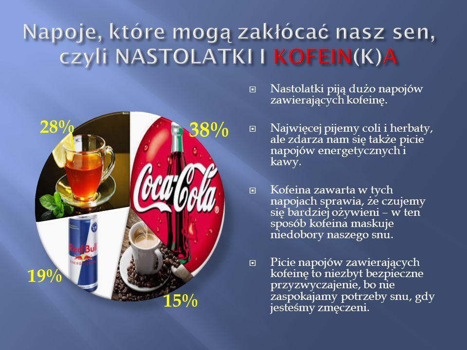 Napoje, które mogą zakłócać nasz sen, czyli NASTOLATKI I KOFEIN(K)A