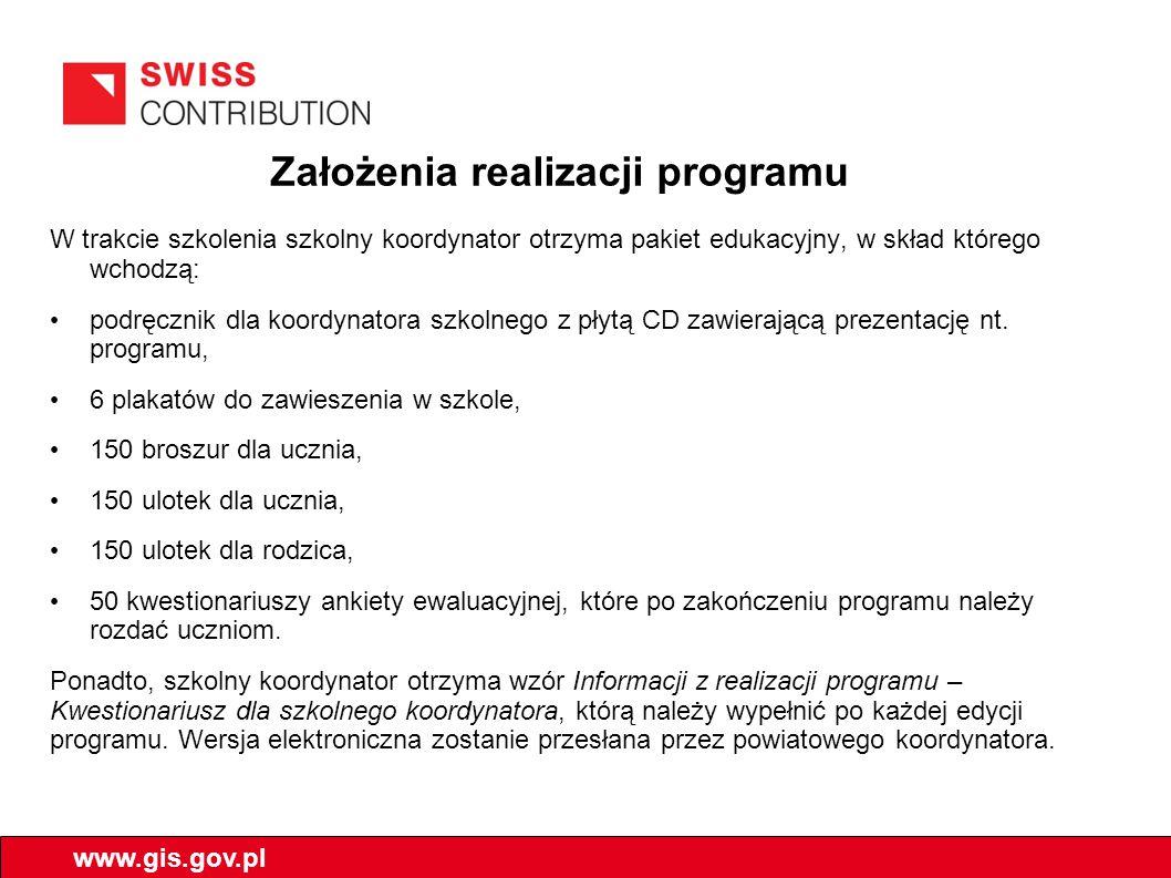 Założenia realizacji programu
