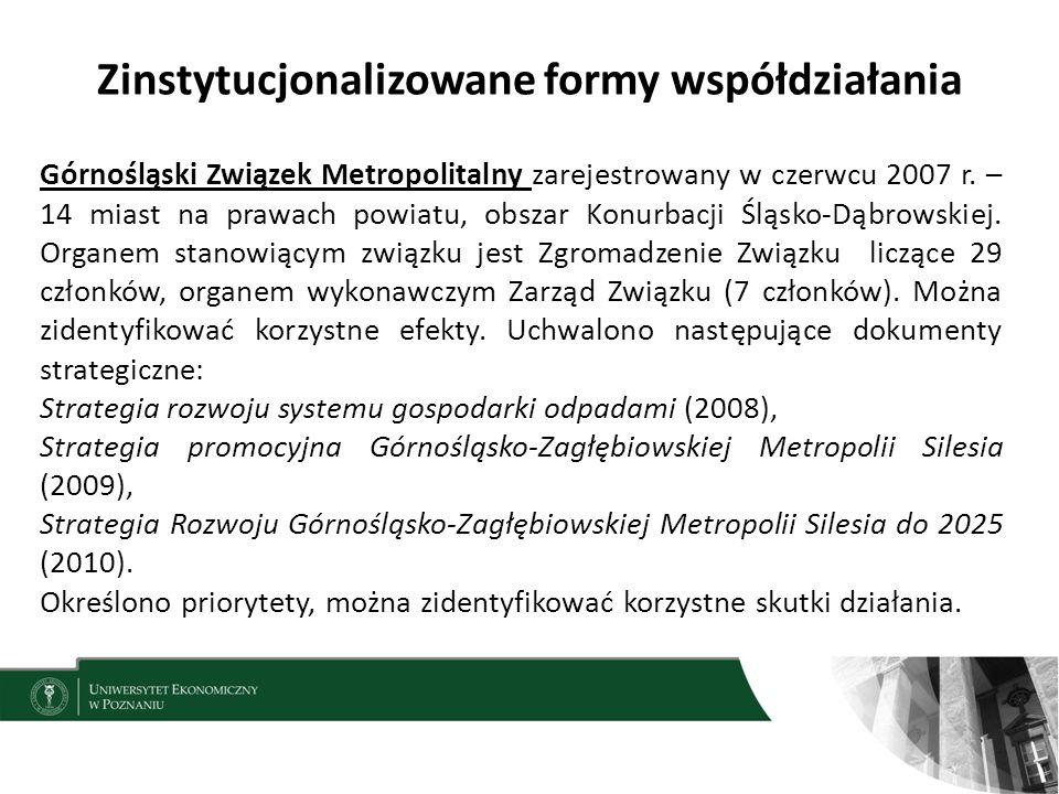 Zinstytucjonalizowane formy współdziałania