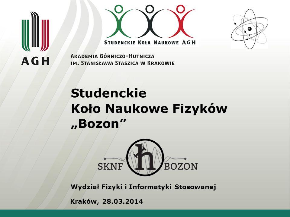"""Studenckie Koło Naukowe Fizyków """"Bozon"""