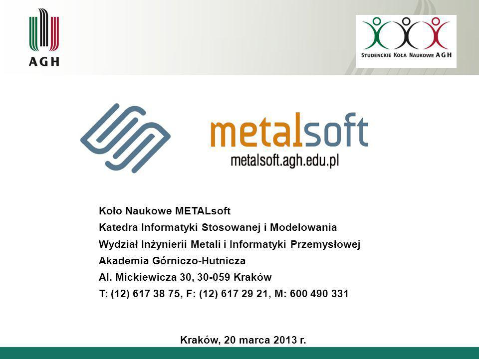 Koło Naukowe METALsoft