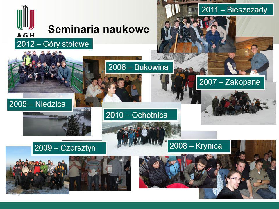 Seminaria naukowe 2011 – Bieszczady 2012 – Góry stołowe