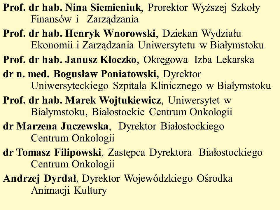 Prof. dr hab. Nina Siemieniuk, Prorektor Wyższej Szkoły Finansów i Zarządzania Prof.