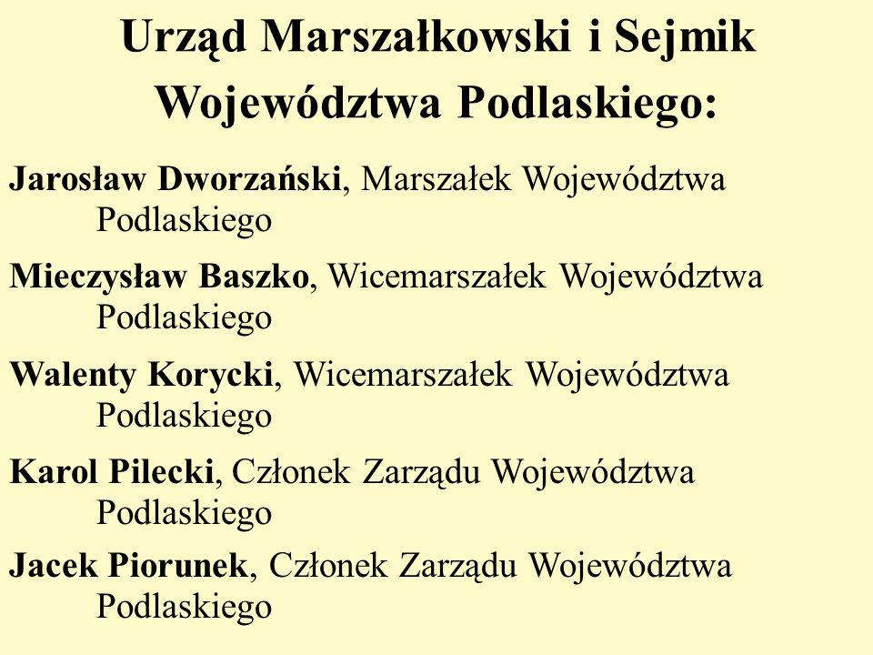 Urząd Marszałkowski i Sejmik Województwa Podlaskiego: