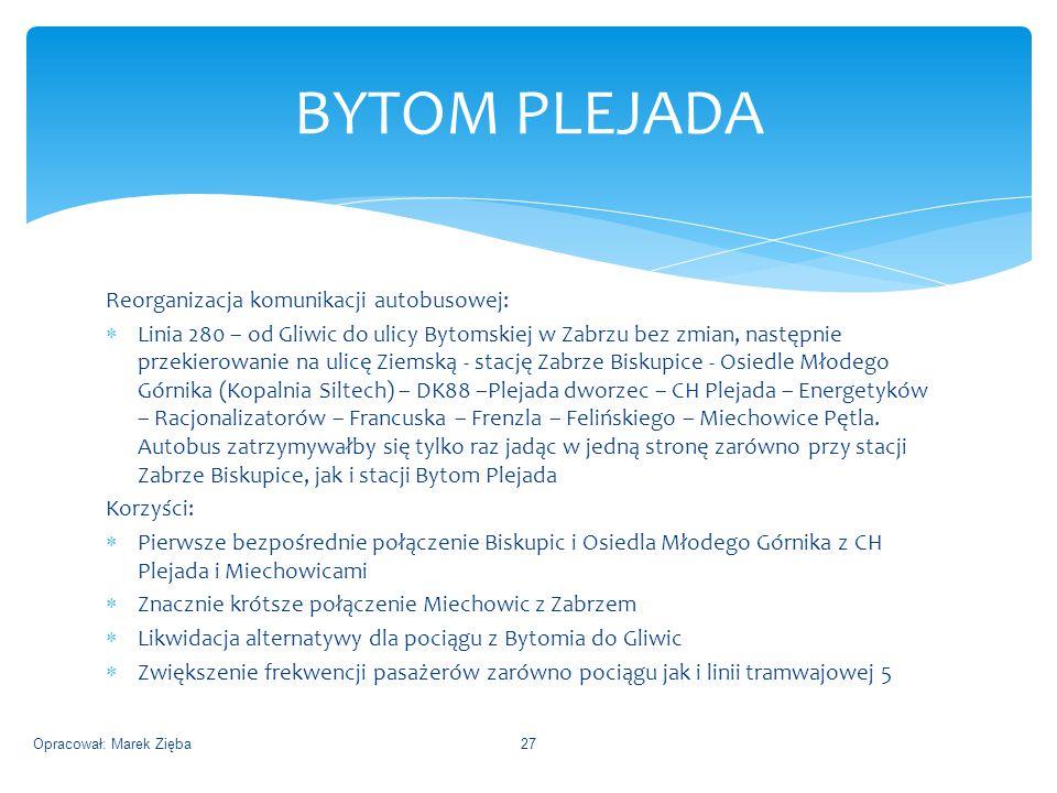 BYTOM PLEJADA Reorganizacja komunikacji autobusowej: