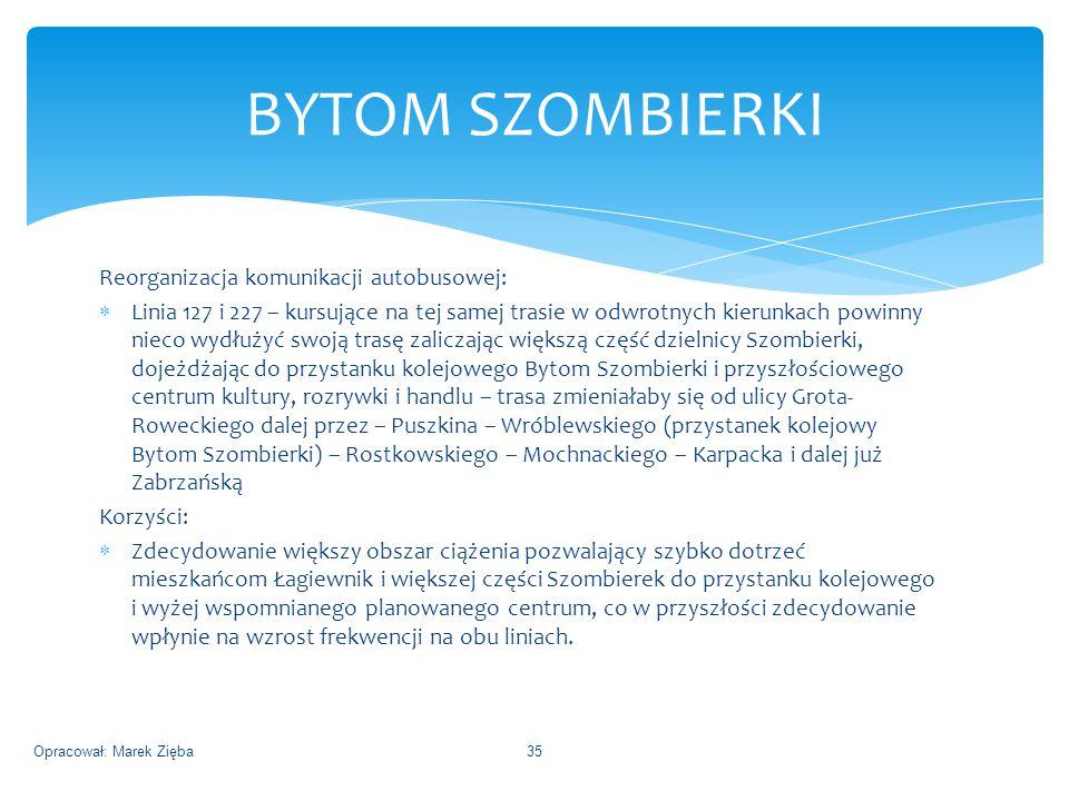 BYTOM SZOMBIERKI Reorganizacja komunikacji autobusowej: