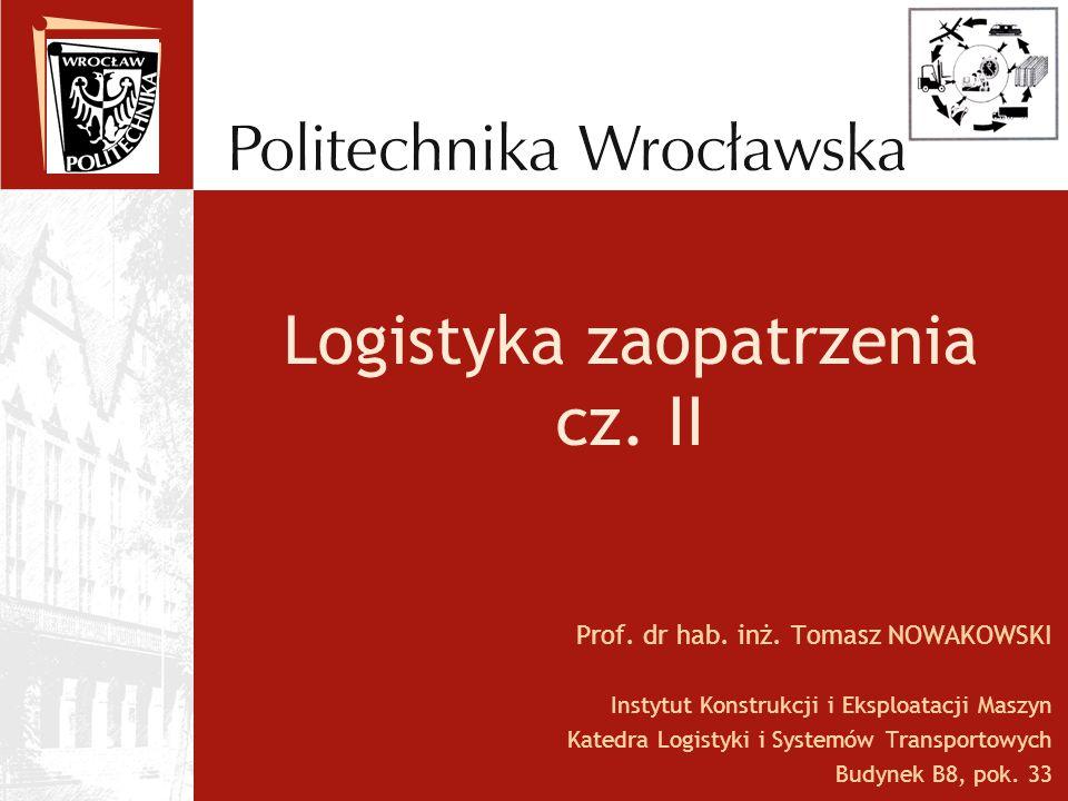 Logistyka zaopatrzenia cz. II
