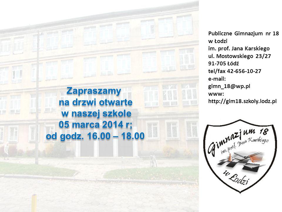 Zapraszamy na drzwi otwarte w naszej szkole 05 marca 2014 r;