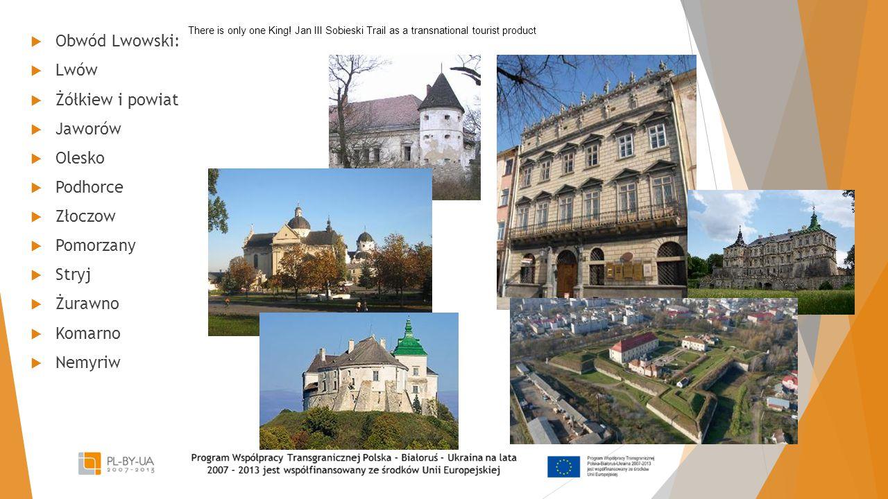 Obwód Lwowski: Lwów Żółkiew i powiat Jaworów Olesko Podhorce Złoczow