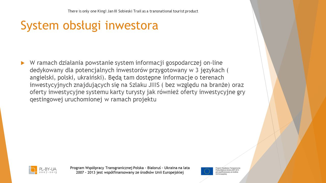 System obsługi inwestora