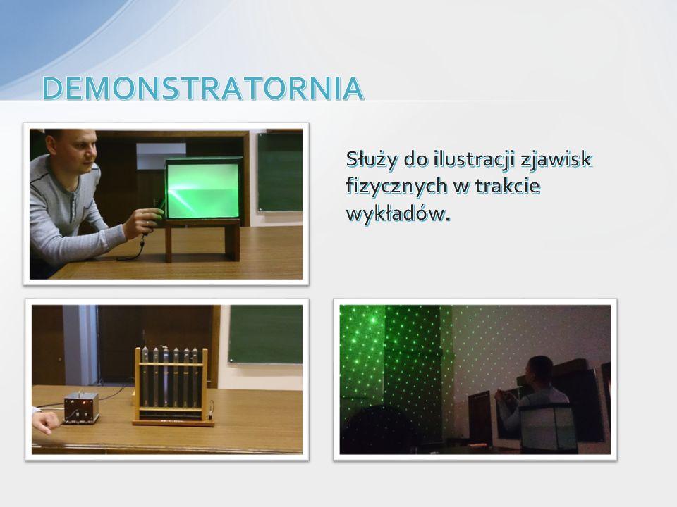 DEMONSTRATORNIA Służy do ilustracji zjawisk fizycznych w trakcie wykładów.