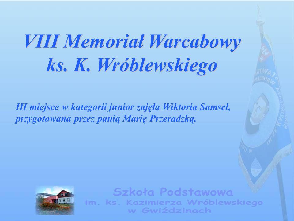 VIII Memoriał Warcabowy ks. K. Wróblewskiego