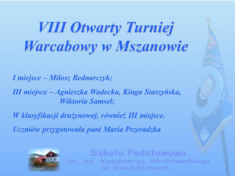 VIII Otwarty Turniej Warcabowy w Mszanowie