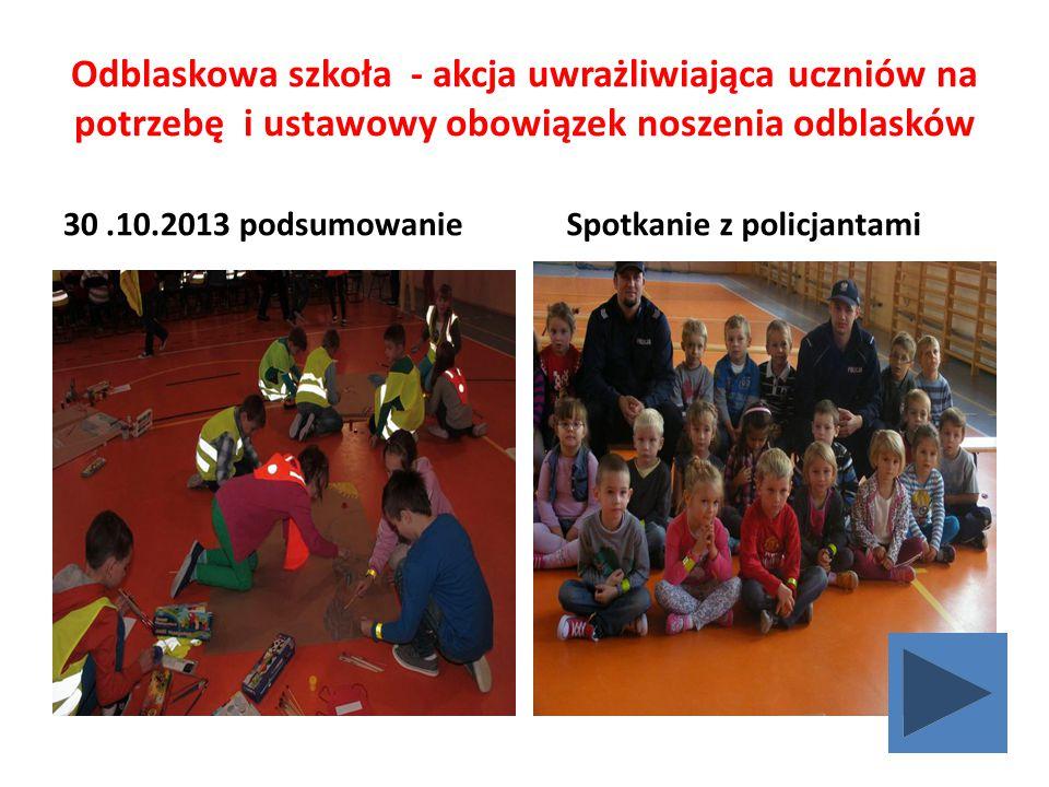 Odblaskowa szkoła - akcja uwrażliwiająca uczniów na potrzebę i ustawowy obowiązek noszenia odblasków