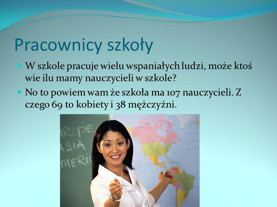 Pracownicy szkoły W szkole pracuje wielu wspaniałych ludzi, może ktoś wie ilu mamy nauczycieli w szkole