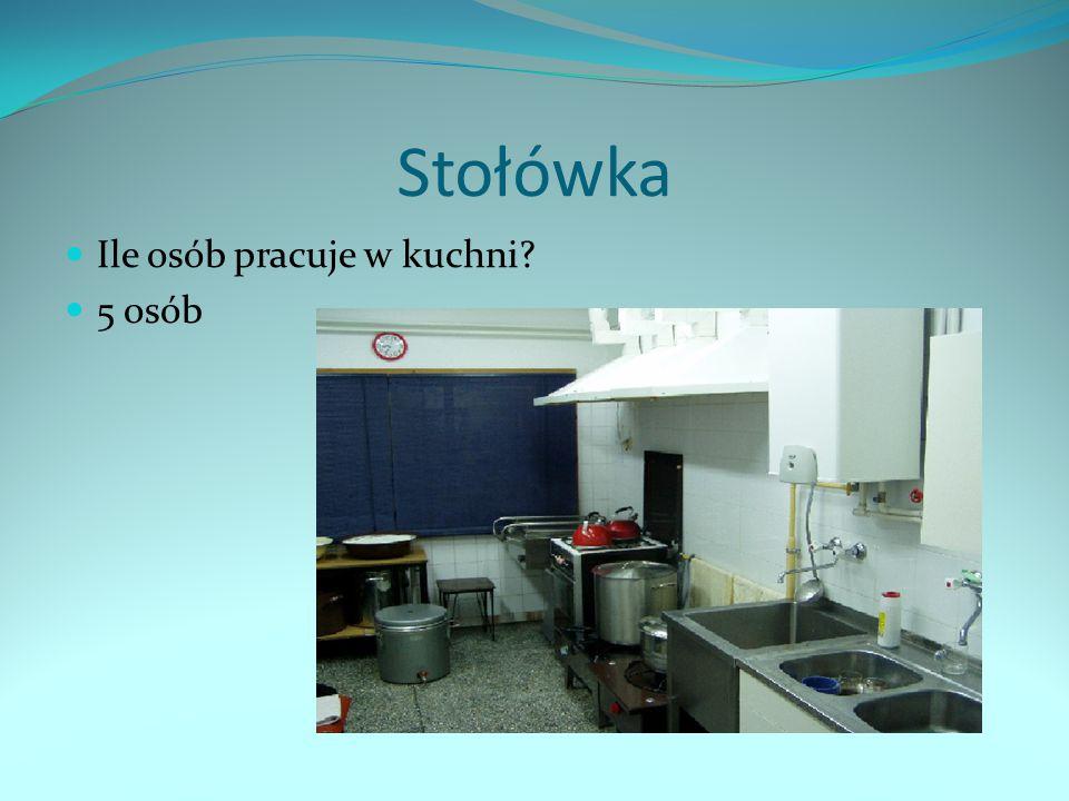 Stołówka Ile osób pracuje w kuchni 5 osób