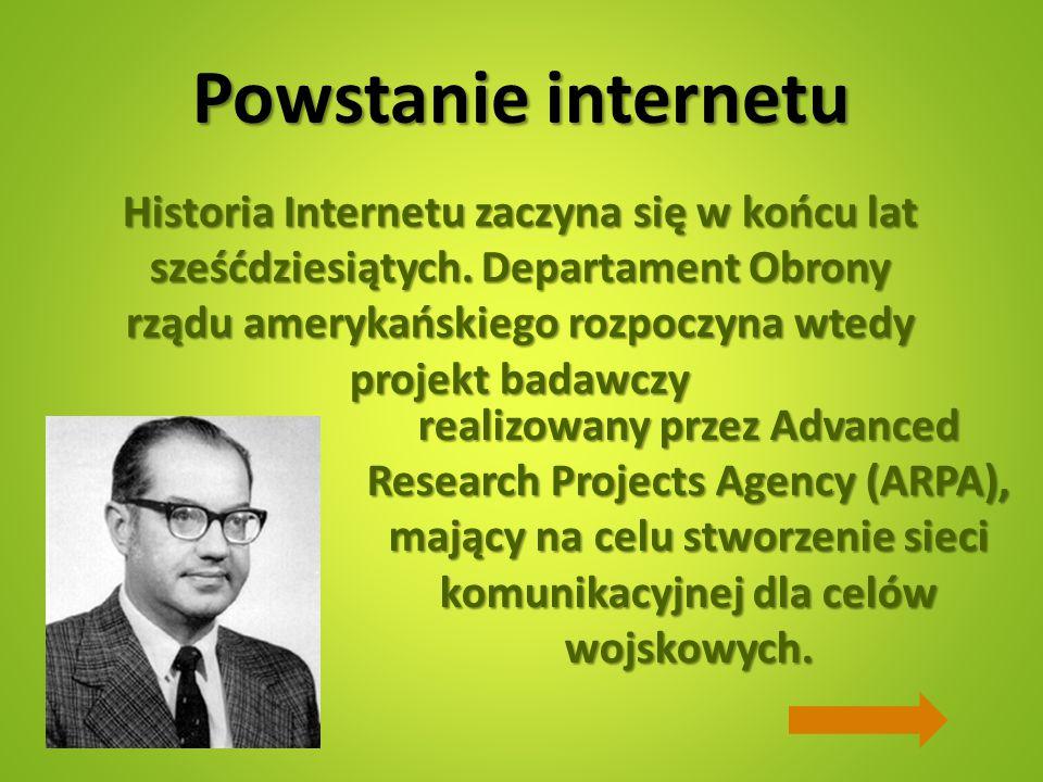 Powstanie internetu
