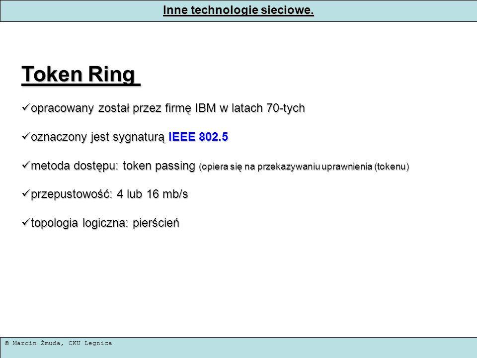 Inne technologie sieciowe.