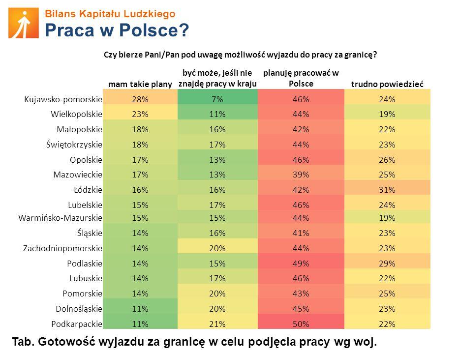być może, jeśli nie znajdę pracy w kraju planuję pracować w Polsce