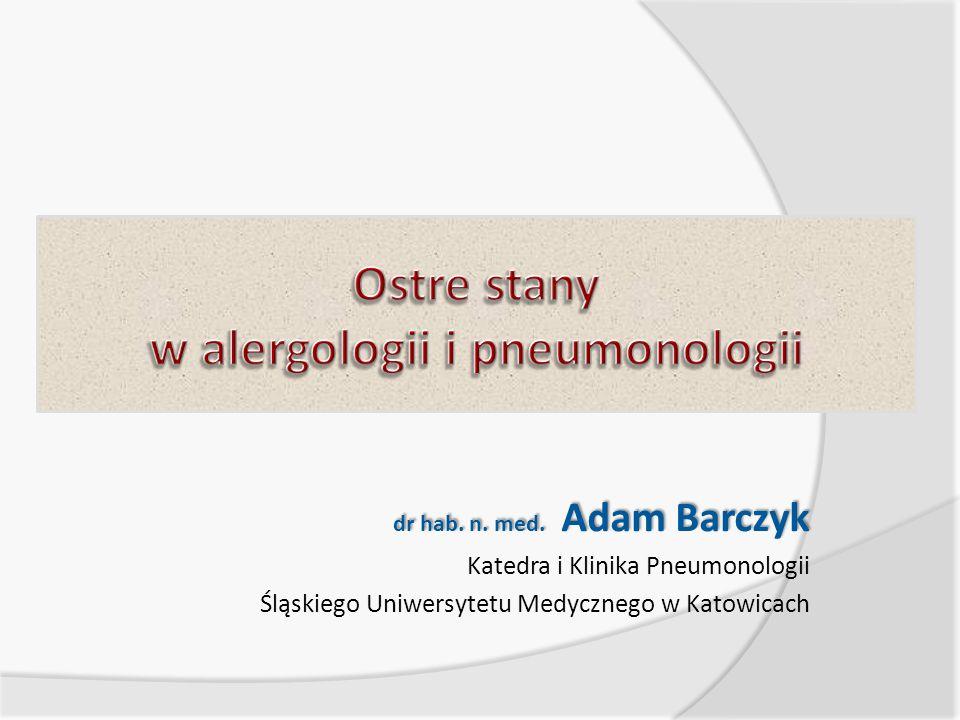 Ostre stany w alergologii i pneumonologii
