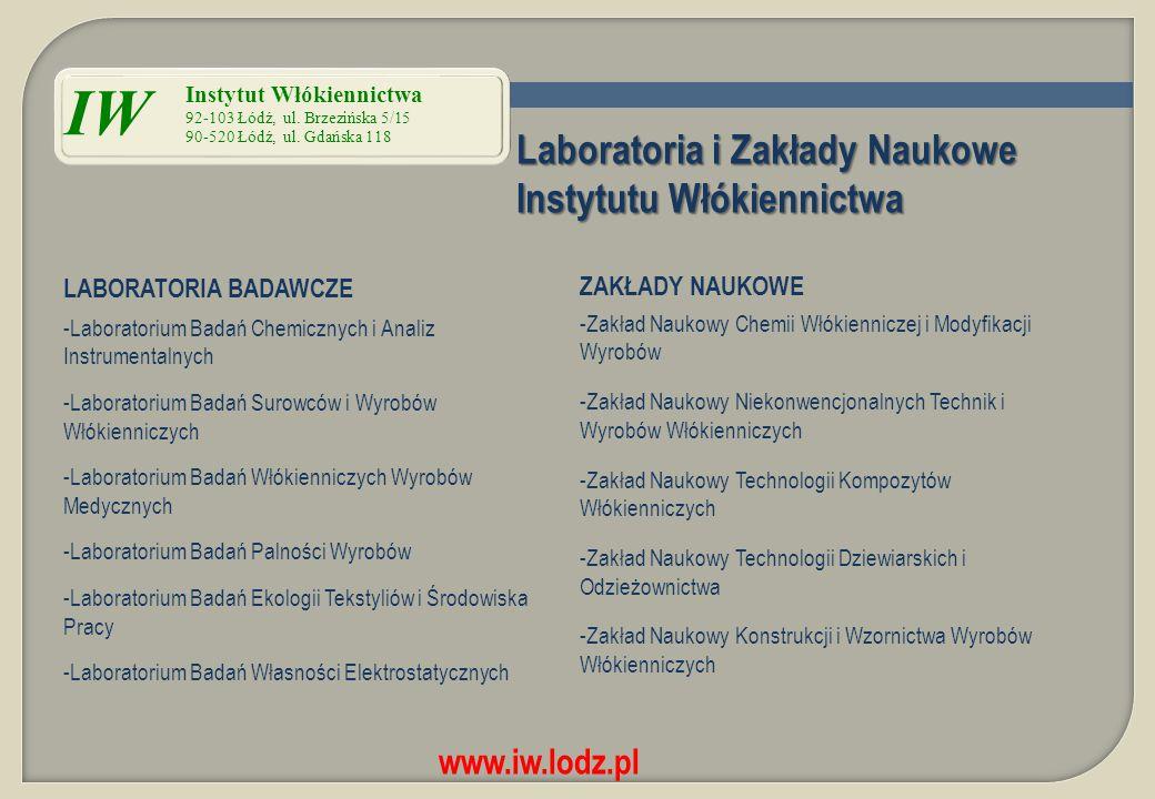 IW Laboratoria i Zakłady Naukowe Instytutu Włókiennictwa