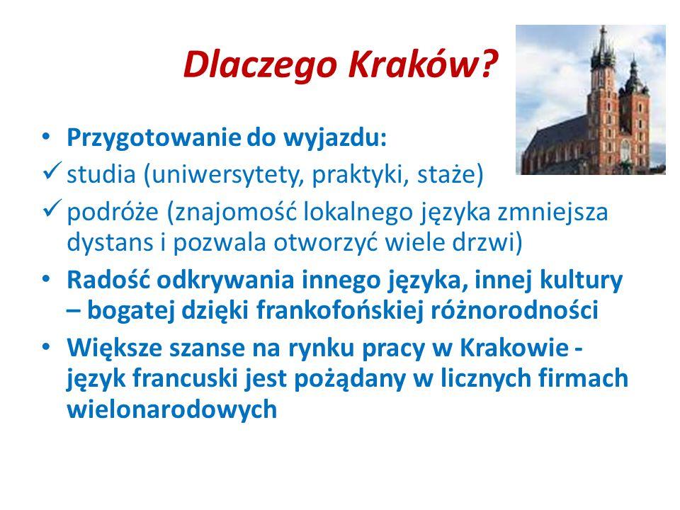 Dlaczego Kraków Przygotowanie do wyjazdu: