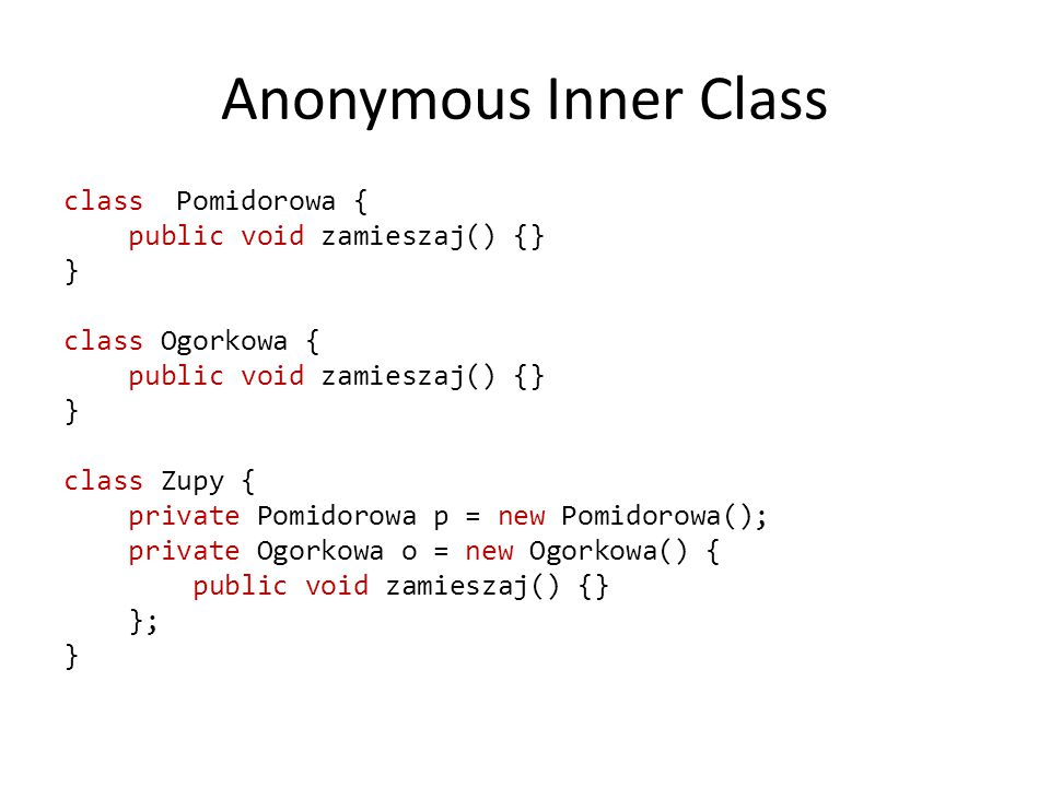 Anonymous Inner Class
