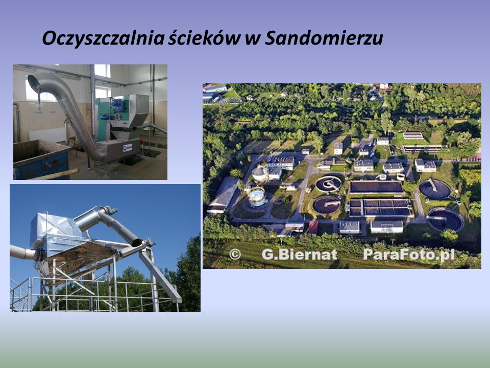 Oczyszczalnia ścieków w Sandomierzu