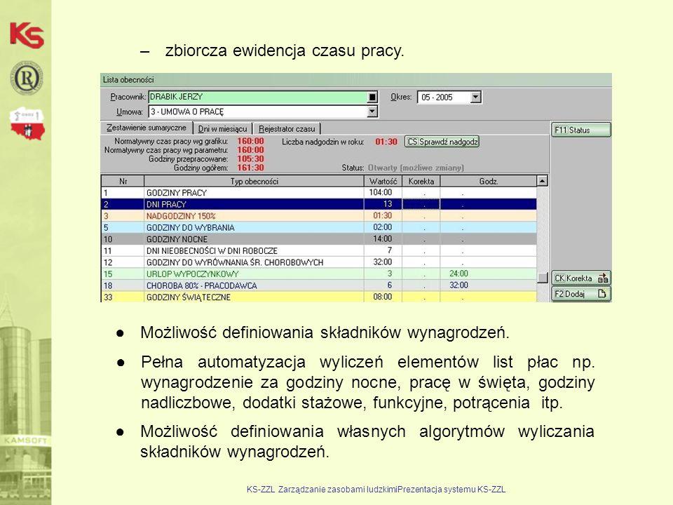 KS-ZZL Zarządzanie zasobami ludzkimiPrezentacja systemu KS-ZZL