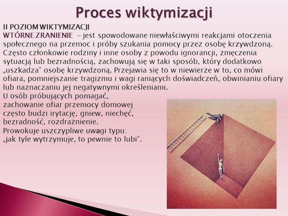 Proces wiktymizacji II POZIOM WIKTYMIZACJI