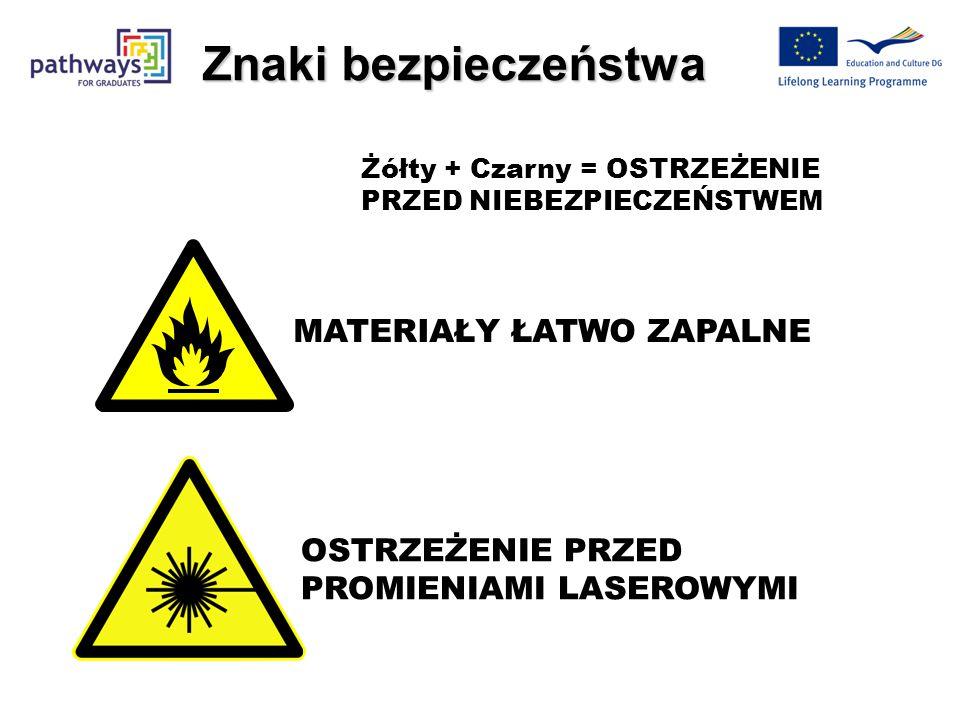 Znaki bezpieczeństwa MATERIAŁY ŁATWO ZAPALNE