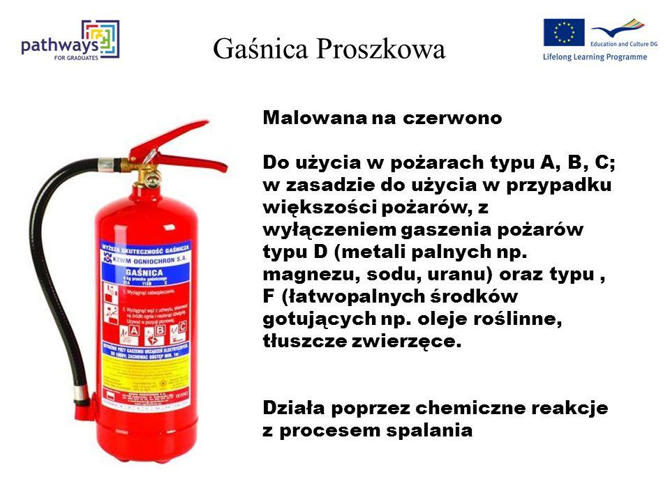 Gaśnica Proszkowa Malowana na czerwono